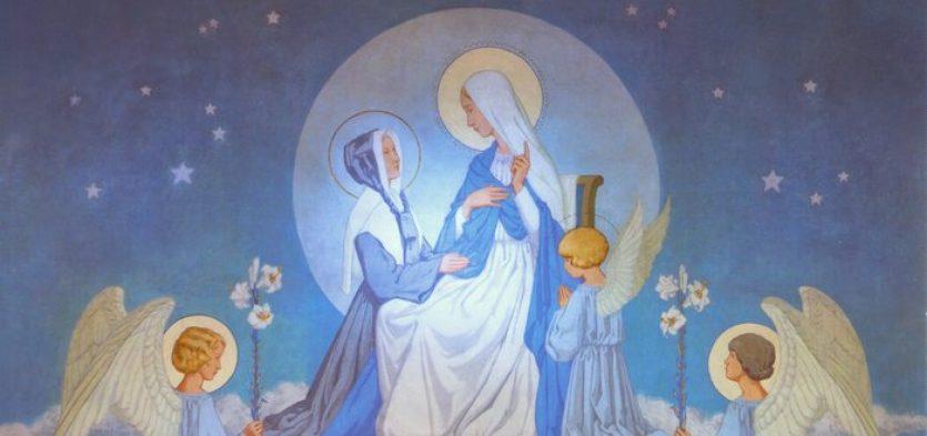 Chapelle de la Médaille Miraculeuse avec Marie et Sainte Catherine