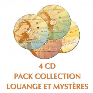 Collection de 4 CD louange et mystères