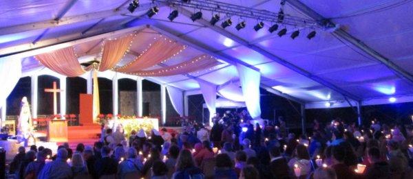 Magnifique veillée du Festival Marial, une belle soirée en session d'été