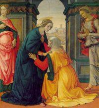 Sainte Elisabeth reçoit la visitation de la Vierge Marie